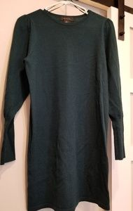 Tahari Dresses - Tahari Hunter Green Sweater Dress